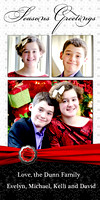 Dunn Seasons Greetings 2-2014Photocard 4x8